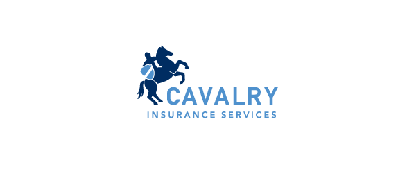 horse logo cavalry insurance