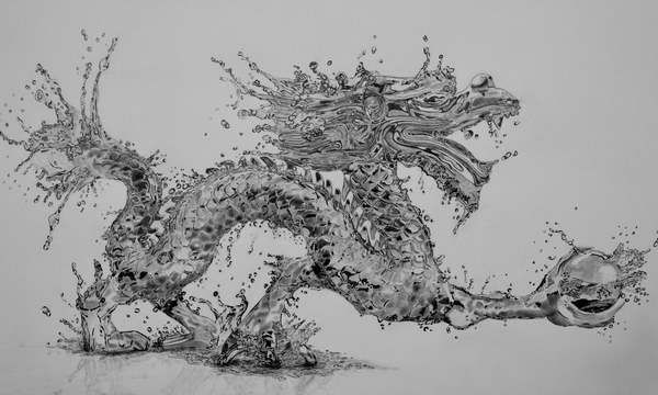 pencil drawings of water dragon