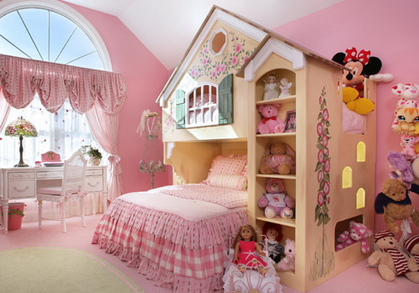 Pink Teenage Girl Bedroom