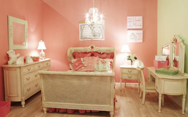 Red Girl Bedroom Decoration