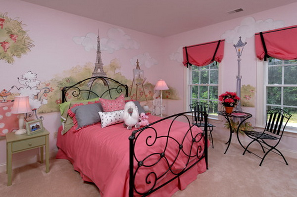 Red Girl Bedroom Design