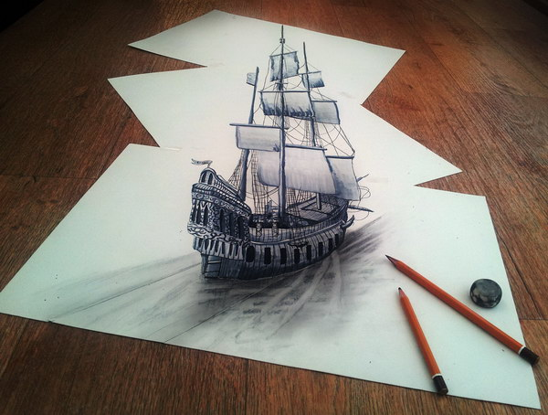 sailing through my 3d imagination