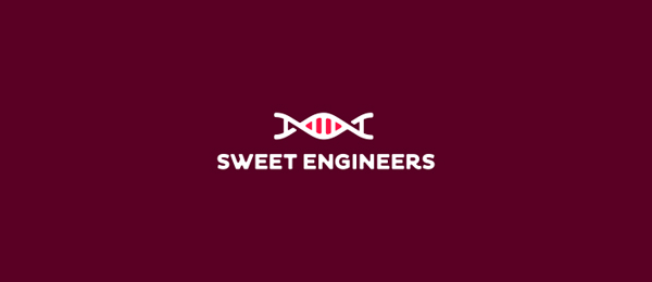 sweet engineers dna logo design