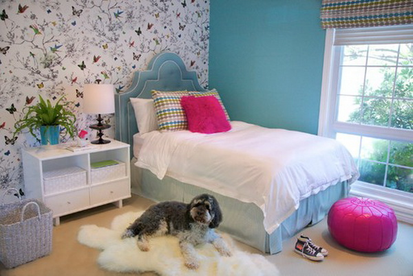 50 cool teenage girl bedroom ideas of design hative - Room themes for teenage girl ...