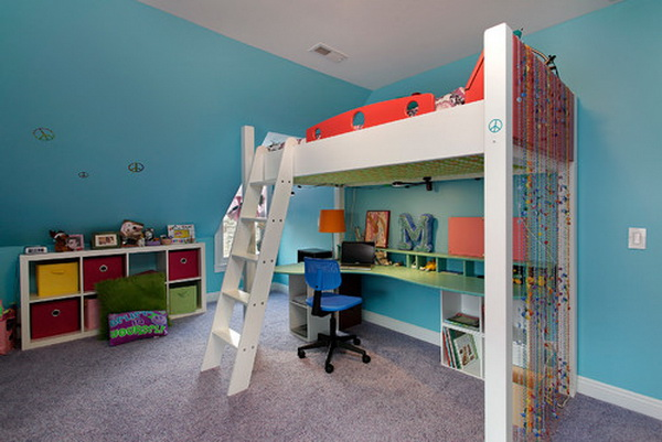 50 cool teenage girl bedroom ideas of design hative for Girls bedroom decorating ideas with bunk beds