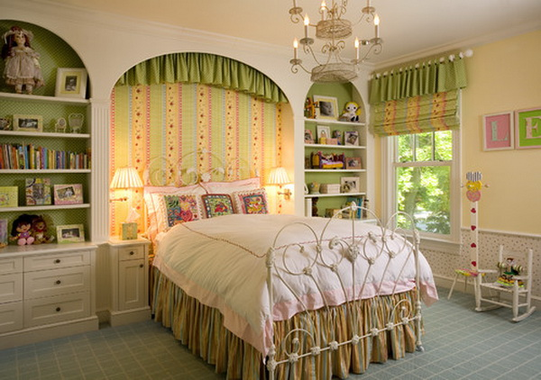 Traditional Girls Bedroom with Italian Iron Bed