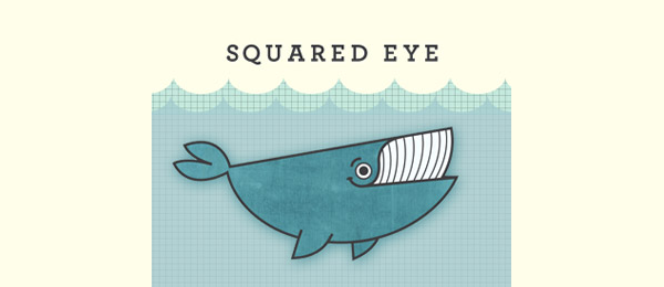whale logo squared eye