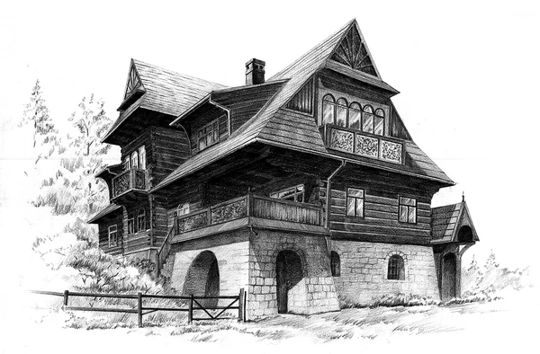 Pencil sketches of houses images for House sketches from photos