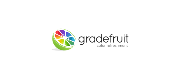 3d fruit logo design