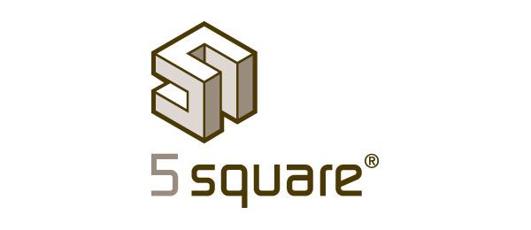 3d logo 5 square