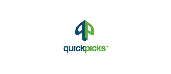3d logo letter q typography