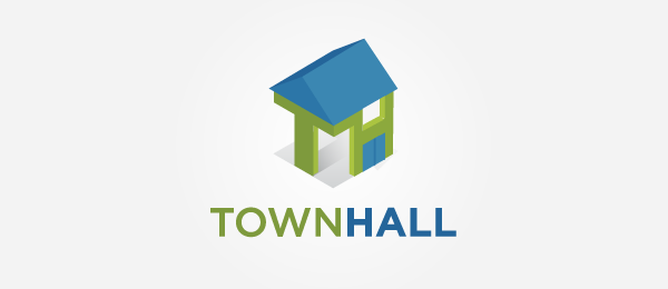 3d logo t h house