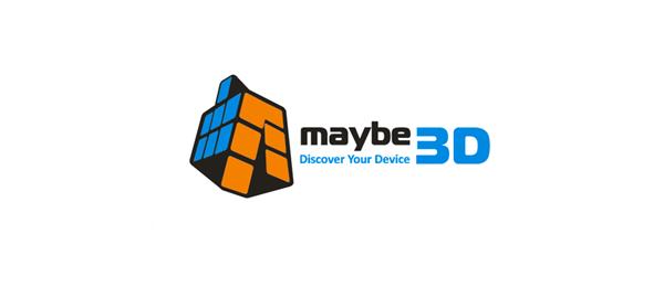 3d toy cube logo