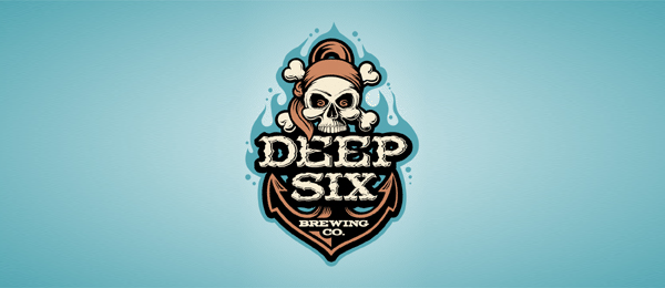 anchor logo deep six brewery