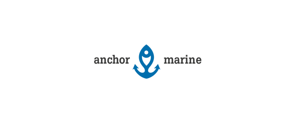 anchor marine logo design