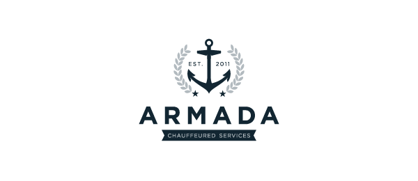 30 cool anchor logo designs for inspiration hative armada v1 anchor logo thecheapjerseys Images