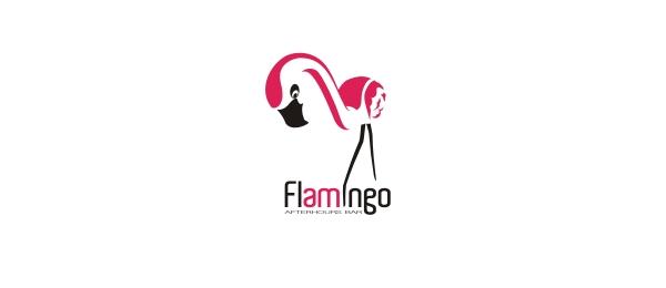 bird logo flamingo bar