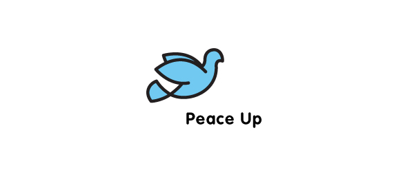 bird logo peace symbol