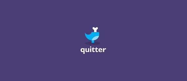 bird logo quitter