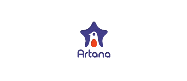 bird logo star