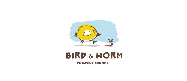 bird worm logo