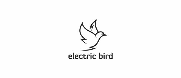 black and white logo bird