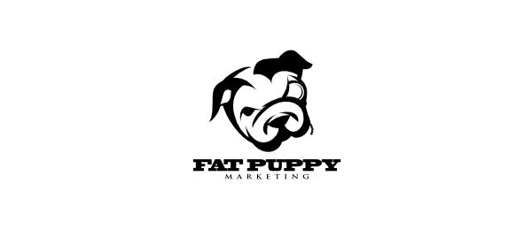black and white logo bulldog