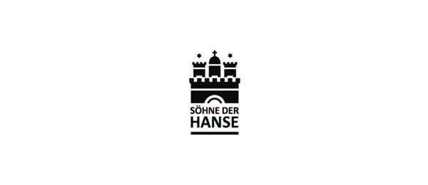 black and white logo castle