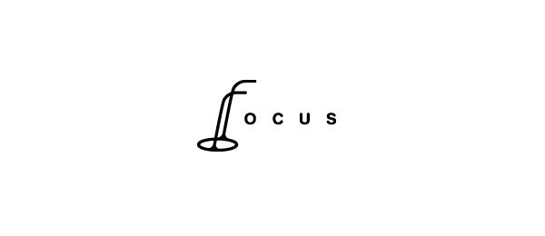 black and white logo f glasses