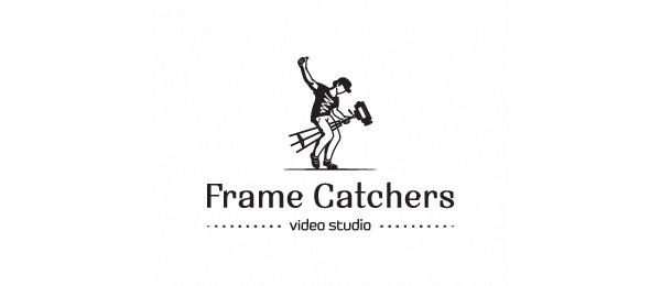 black and white logo frame catchers