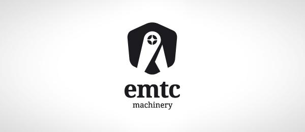 black and white logo machine