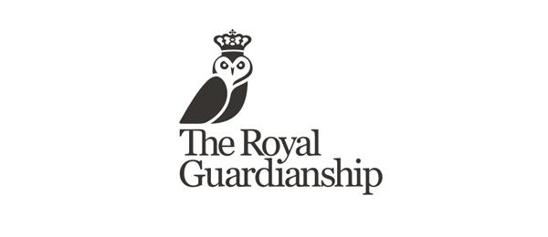 black and white logo owl