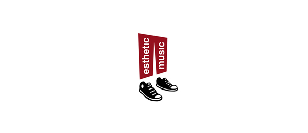 black shoe logo esthetic music