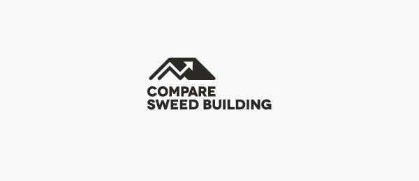 black white logo building