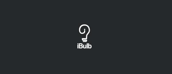 black white logo bulb