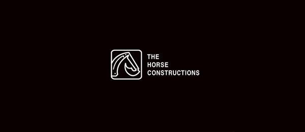 black white logo construction