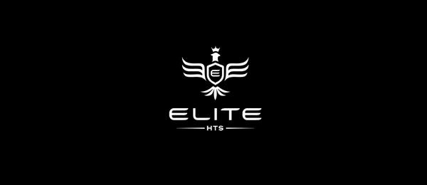black white logo eagle