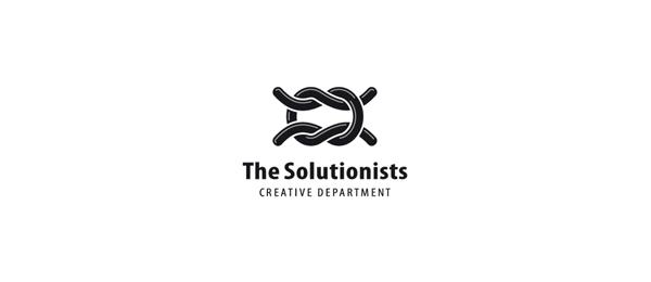 black white logo knot