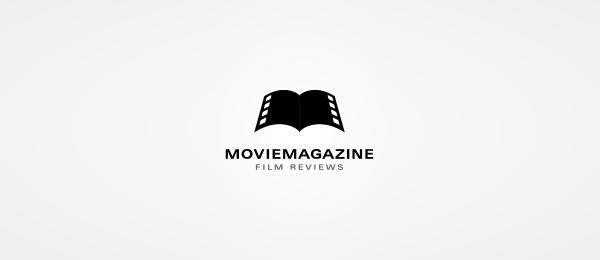 black white logo movie magazine