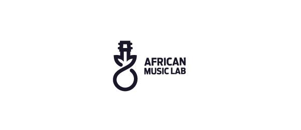 black white logo music