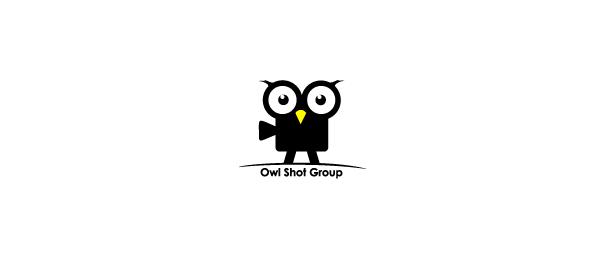 black white logo owl video
