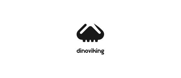 black white logo viking