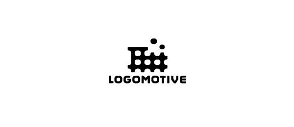 black white motive logo