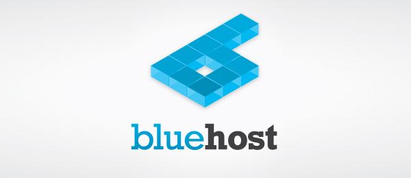 blue 3d logo bluehost