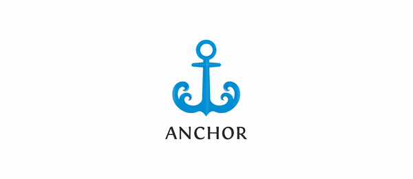 30 cool anchor logo designs for inspiration hative blue anchor logo thecheapjerseys Images