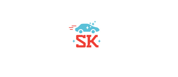 blue car logo sk 23