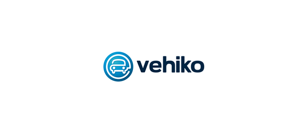 blue car logo vehico 43