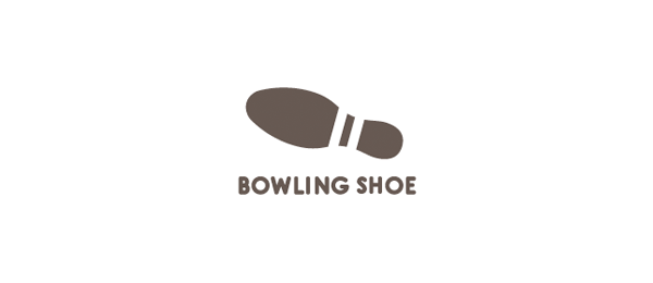 bowling shoe logo design