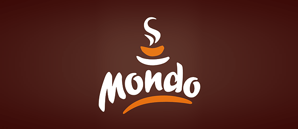 brown cafeteria logo mondo cafe 17