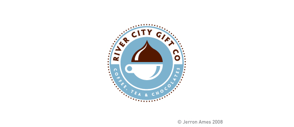 brown coffee logo river city 30